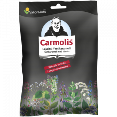 Carmolis Lakritsi Yrttikaramelli 72 g
