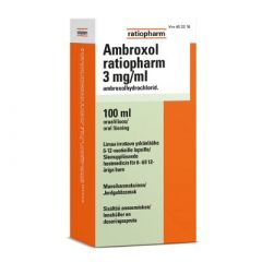 AMBROXOL RATIOPHARM 3 mg/ml oraaliliuos 100 ml