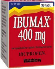 IBUMAX 400 mg tabl, kalvopääll 30 kpl